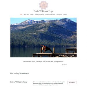 emily williams yoga squarespace website
